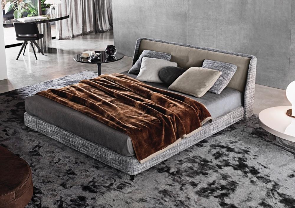 SPENCER BED, COFFEE TABLE NETO, CHAIR OWENS, TABLE RAYMOND - DESIGNER RODOLFO DORDONI
